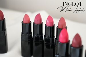 Inglot Cosmetics Matte Lipsticks - Swatches Review - London Beauty Blogger Makeup Artist - The Burn Out Brand It\'s Azami - The Target Idea Copywriter