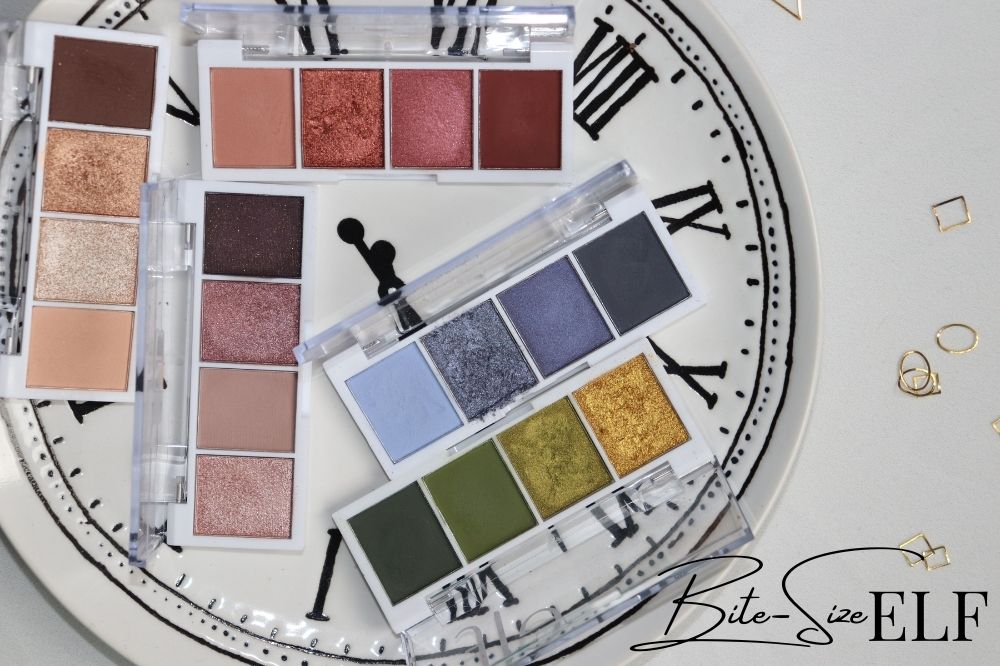 ELF Bite-Size Eyeshadow Palettes Review Swatches - London Beauty Blogger Makeup Artist - Burn Out Brand - Target Idea Copywriter