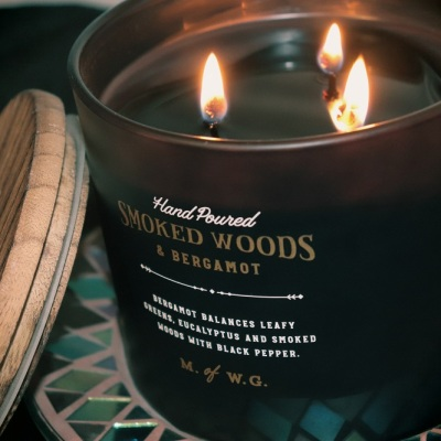 TK Maxx Candles Makers of Wax Goods - Smoked Woods & Bergamot Review - T K Maxx Candle